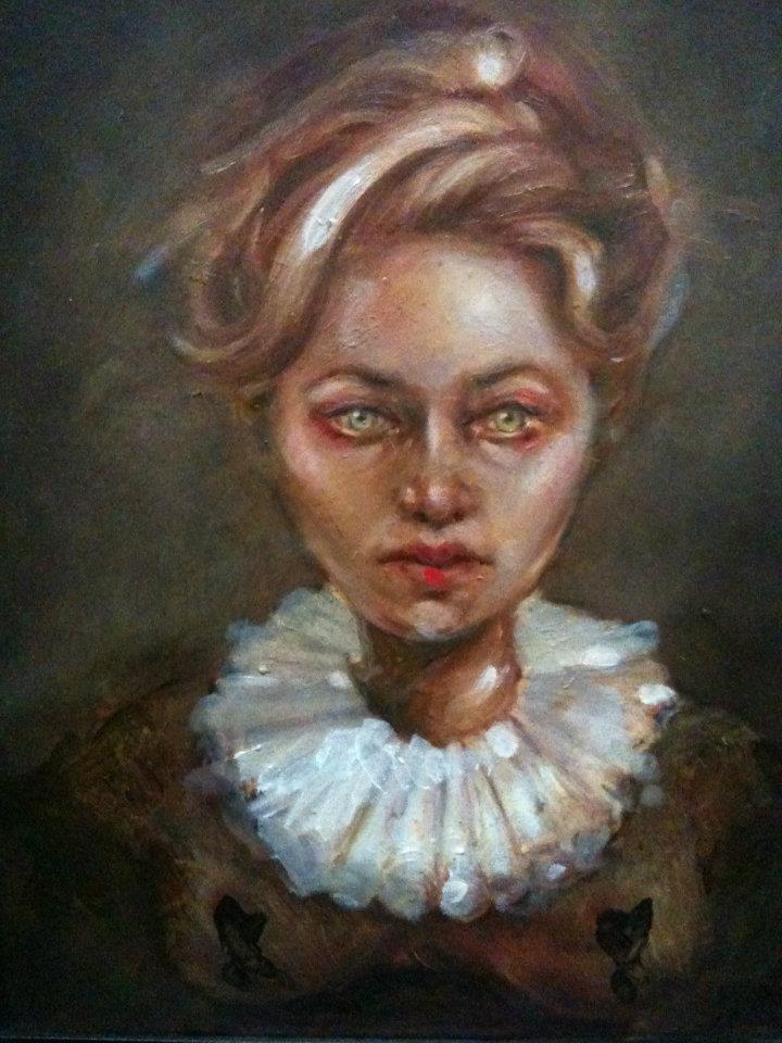Lady in Ruff Portrait - sarah hope art