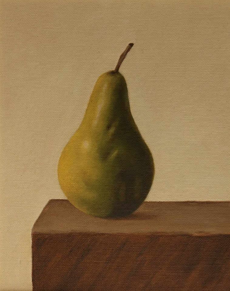 pear on wooden table